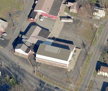 aerial shot of an open property