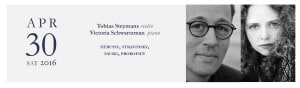 Tobias Steymans and Victoria Schwartzman perform at the Queen Of The Hudson Concert Series on April 30, 2016, 7:00pm at Atlas Studios