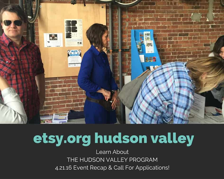 Attendees sign in to etsy.org's information session about The Hudson Valley Program