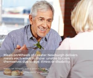 A hot meal is a gift to a homebound senior