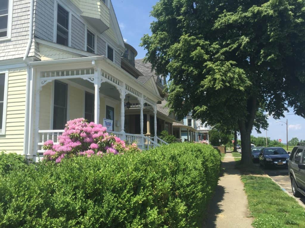 One of the many beautiful homes on historic Bayview Terrace opposite where the N.H.A. had their flower fundraiser.