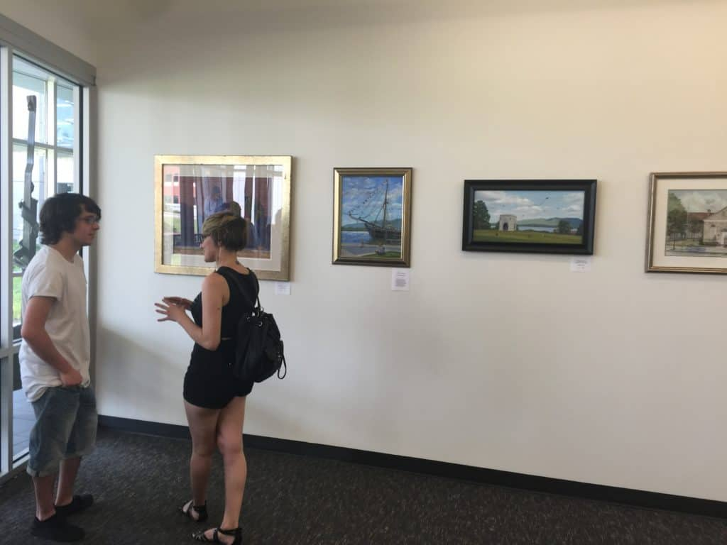 The exhibit at the Mindy Ross Gallery