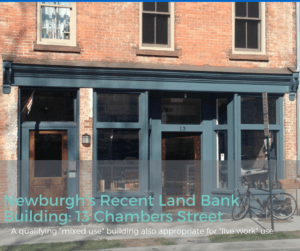 Newburgh's Land Bank Renovation a Mixed Use or Live Work type property