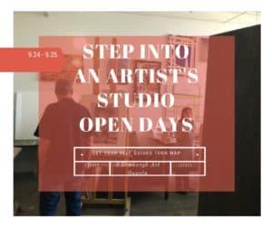 An artist's studio with Atlas Studios in Newburgh, N.Y.