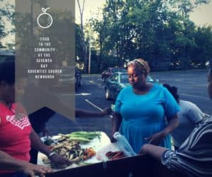 At Newburgh's Seventh Day Adventist Church 497 Gidney Avenue, Newburgh, N.Y. food is distributed Wednesdays, in the summer.