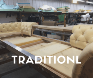Expert upholsterers at Ramos can work on both traditional modern pieces.