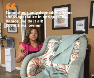 Rocia Silva owner entrepreneur Ramos Upholstery