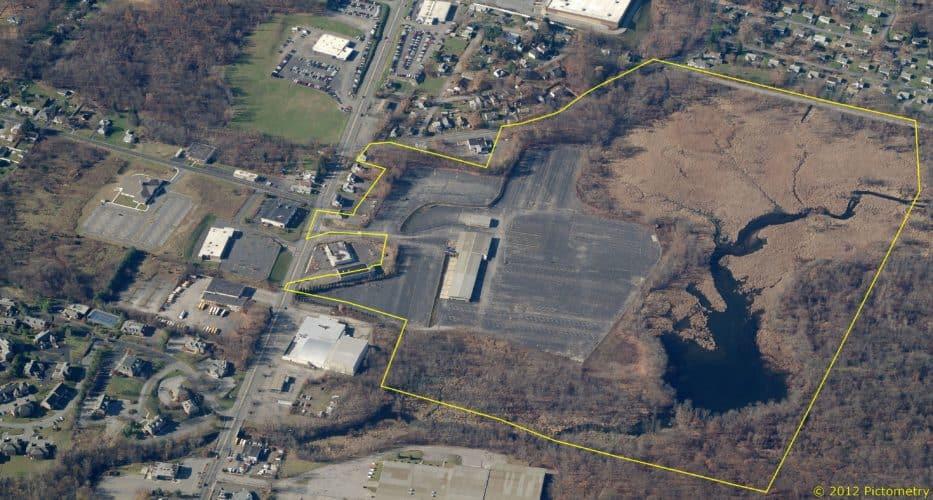 Aerial view of Distribution Center, Newburg, NY