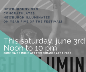 Newburgh Illuminated 2017 its fifth festival, to be held June 3rd