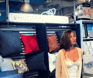 Pop up shop in Manhattan displaying Hudson and Kings home goods