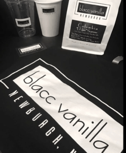 Blacc Vanilla sells merchandise including their own branded coffee, roasted in the Hudson Valley