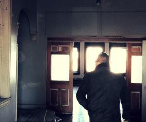 Rich Fracasse walks through 205 Broadway, Newburgh, N.Y. a former engine company