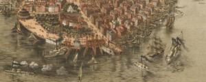 Birdseye View Lower Manhattan Kimmel & Forster 1865